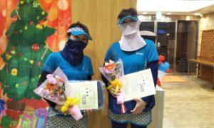 第1628回 緑ヶ丘テニスガーデン 女子ダブルス準優勝:両角・小林ペア