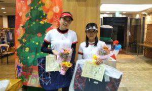 第1628回 緑ヶ丘テニスガーデン 女子ダブルス優勝:中村・高岸ペア