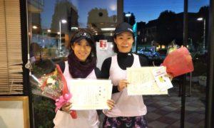 第1632回 緑ヶ丘テニスガーデン 女子ダブルス準優勝:中里・長橋ペア