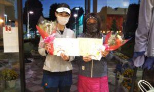 第1632回 緑ヶ丘テニスガーデン 女子ダブルス優勝:小林・小見野ペア