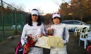 第1633回 桜田倶楽部 女子ダブルス準優勝:鈴木・山村ペア