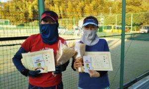 第1634回 百草テニスガーデン 女子ダブルス準優勝:高取・野口ペア