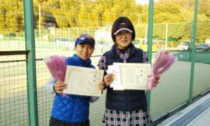 第1634回 百草テニスガーデン 女子ダブルス優勝:近藤・渡井ペア