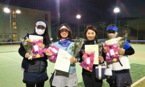 第1635回 南町田インターナショナルテニスカレッジ 女子チーム戦準優勝:三橋・宮本・横内・前田チーム