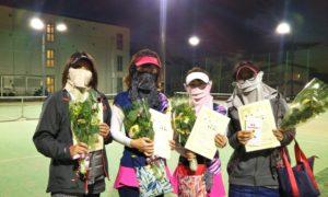 第1635回 南町田インターナショナルテニスカレッジ 女子チーム戦優勝:岩田・沓澤・青木・今井チーム