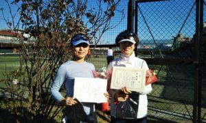 第1636回 桜台テニスクラブ 女子ダブルス準優勝:安澤・秋山ペア