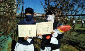 第1636回 桜台テニスクラブ 女子ダブルス優勝:小柳・増田ペア