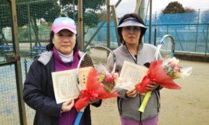 第1640回 サンライズテニススクール調布校 女子ダブルス準優勝:八田・坂元ペア
