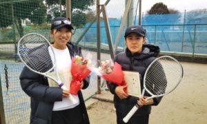 第1640回 サンライズテニススクール調布校 女子ダブルス優勝:東浦・池宮城ペア