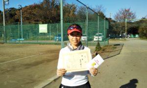 第2回 桜田倶楽部 女子シングルス優勝:栗林選手