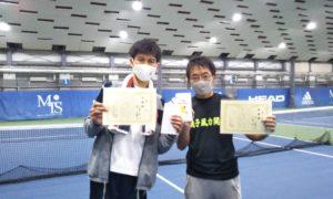 第256回 MTSテニスアリーナ三鷹 ナイター男子ダブルス準優勝:小山田・辻ペア