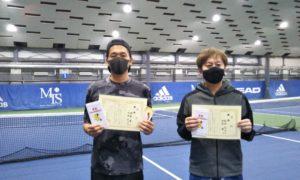 第256回 MTSテニスアリーナ三鷹 ナイター男子ダブルス優勝:伊藤・松田ペア