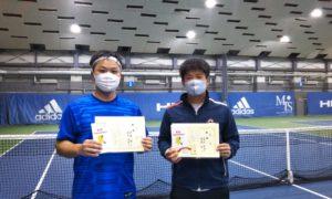 第257回 MTSテニスアリーナ三鷹 ナイター男子ダブルス優勝:佐藤・園田ペア