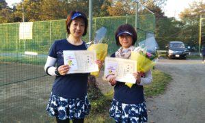 第1610回 桜田倶楽部 女子ダブルス準優勝:岩崎・田中ペア