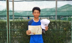 第35回 関町ローンテニスクラブ 中学生男子準優勝:五反田 光稀選手