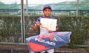 第35回 関町ローンテニスクラブ 中学生男子優勝:西澤 悠貴選手