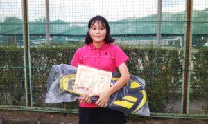第35回 関町ローンテニスクラブ 中学生女子優勝:小栗 言泉選手