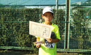 第46回 関町ローンテニスクラブ 小学生男子10歳以下準優勝:原 穂考選手