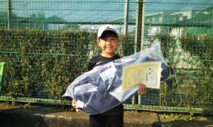第46回 関町ローンテニスクラブ 小学生男子10歳以下優勝:黒澤 翔太選手