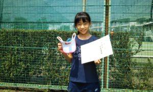 第46回 関町ローンテニスクラブ 小学生女子10歳以下準優勝:白良 優々香選手