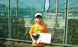 第46回 関町ローンテニスクラブ 小学生男子12歳以下準優勝:牛島 明日翔選手