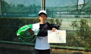 第46回 関町ローンテニスクラブ 小学生男子12歳以下優勝:田中 敬悟選手