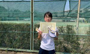 第46回 関町ローンテニスクラブ 小学生女子12歳以下準優勝:田中 杏佳選手
