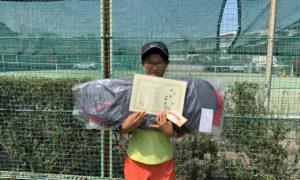 第46回 関町ローンテニスクラブ 小学生女子12歳以下優勝:山田 悠乃選手