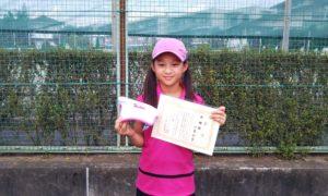 第47回 関町ローンテニスクラブ 小学生女子10歳以下準優勝:加藤 光希選手