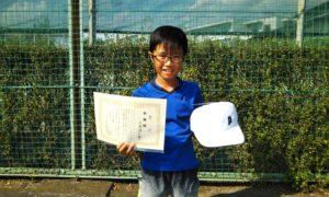 第47回 関町ローンテニスクラブ 小学生男子12歳以下準優勝:土屋 悠一朗選手
