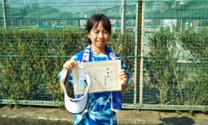 第47回 関町ローンテニスクラブ 小学生女子12歳以下準優勝:中村 実尋選手