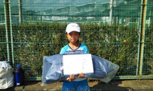 第47回 関町ローンテニスクラブ 小学生女子12歳以下優勝:村井 芽衣亜選手