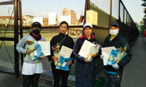 第1645回 桜台テニスクラブ 女子チーム戦準優勝:『チームマンデー』