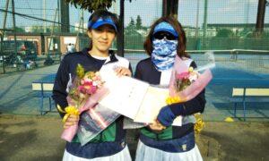 第1646回 サンライズテニススクール調布 女子ダブルス準優勝:古川・木村ペア