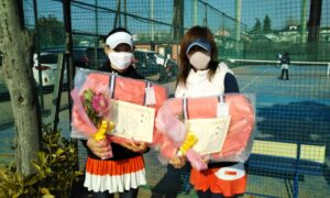 第1646回 サンライズテニススクール調布 女子ダブルス優勝:小西・野村ペア