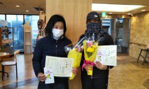 第1647回 緑ヶ丘テニスガーデン 女子ダブルス準優勝:水谷・柴山ペア