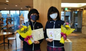 第1647回 緑ヶ丘テニスガーデン 女子ダブルス優勝:渕脇・奥井ペア