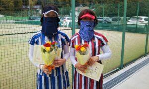 第1650回 百草テニスガーデン 女子ダブルス準優勝:小町・佐藤ペア