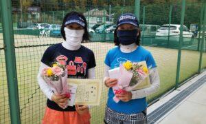 第1650回 百草テニスガーデン 女子ダブルス優勝:杉田・高橋ペア