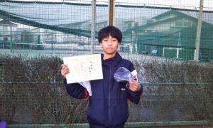 第36回 関町ローンテニスクラブ 中学生男子準優勝:猪又 海斗選手