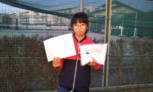 第36回 関町ローンテニスクラブ 中学生女子準優勝:小澤 蘭選手