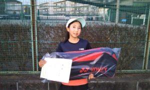 第36回 関町ローンテニスクラブ 中学生女子優勝:小菅 美緒選手
