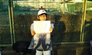 第48回 関町ローンテニスクラブ 小学生男子10歳以下優勝:佐藤 悠生選手