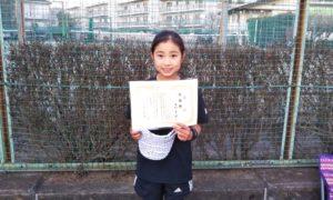 第48回 関町ローンテニスクラブ 小学生女子10歳以下準優勝:本村 未来選手