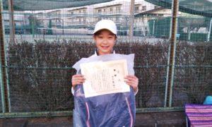 第48回 関町ローンテニスクラブ 小学生女子10歳以下優勝:稲毛 舞桜選手