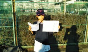 第48回 関町ローンテニスクラブ 小学生女子12歳以下準優勝:白良 優々香選手