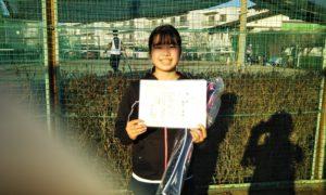 第48回 関町ローンテニスクラブ 小学生女子12歳以下優勝:田中 杏佳選手