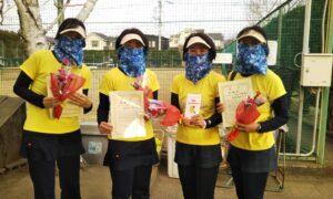 第1655回 関町ローンテニスクラブ 女子チーム戦準優勝:『姐さんと3発の弾丸』