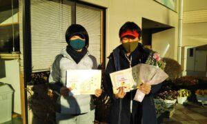 第1656回 緑ヶ丘テニスガーデン 女子ダブルス準優勝:宇津木・古山ペア
