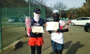 第1657回 桜田倶楽部 女子ダブルス準優勝:花田・東ペア